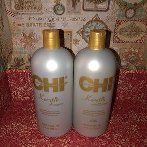 2 CHI Keratin Shampoo & Conditioner,Size-32 fl.oz
